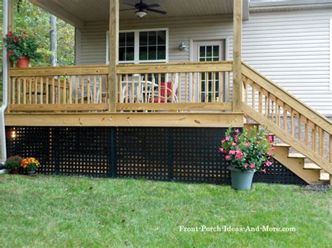 inexpensive deck skirting ideas porch skirting vinyl lattice panels porch landscaping