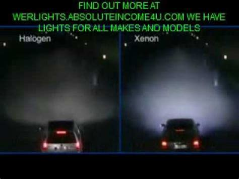Xenon Halogen Headlights Blue Demonstration   YouTube