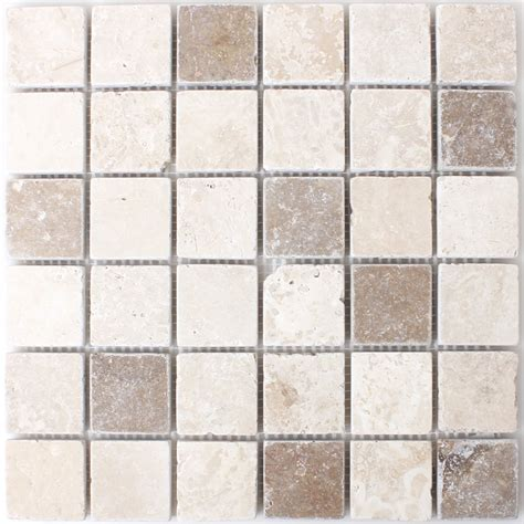travertine mosaic tiles chiaro noce tm33267m