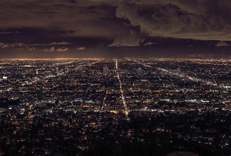 chambre d ado york poster de nuit d 39 une vue sur la ville de los angeles