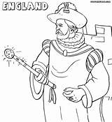 England Coloring sketch template
