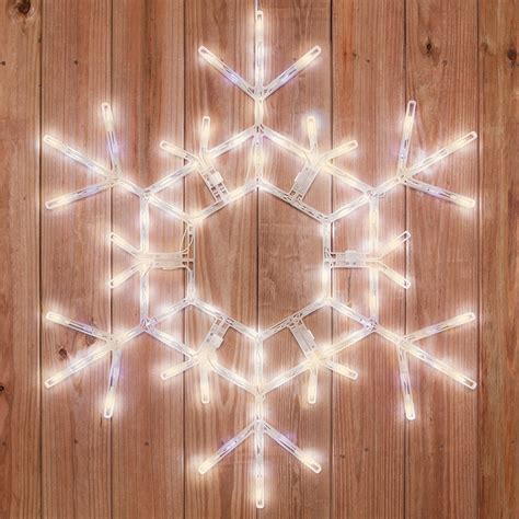 snowflakes stars  led folding snowflake warm white