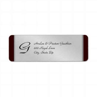 silver address label 15 best images about silver return address labels on