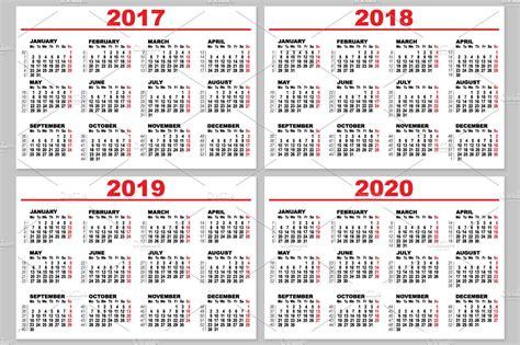 set grid wall calendar illustrations creative market