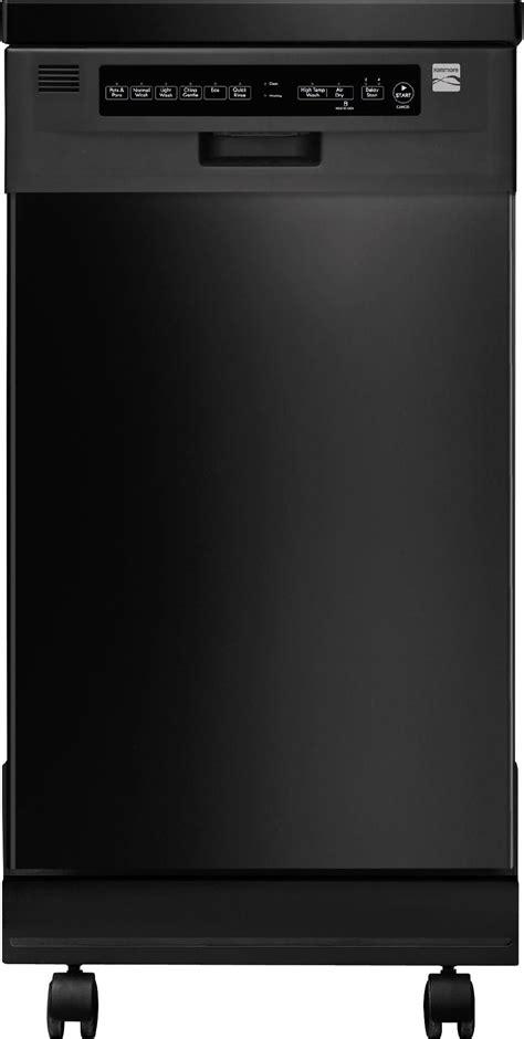 kenmore   portable dishwasher black