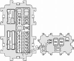 Fuse Box Diagram Nissan Xterra  N50  2005