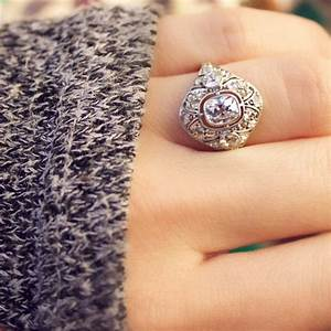 angelina unique vintage engagement ring with an old mine With ideas for old wedding rings