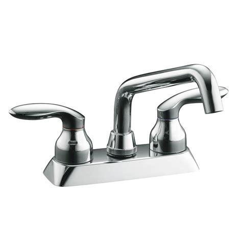 KOHLER Coralais 4 in. 2 Handle Low Arc Bathroom Sink