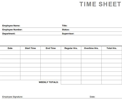 weekly employee time sheet time sheets printable laptuoso