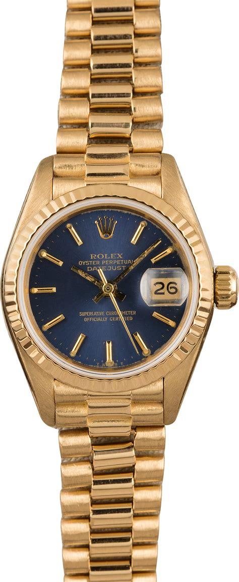 Ladies Rolex Date-Date President 18k Gold - Bob's Watches