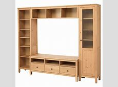 HEMNES TV storage combination Light brown 246x197 cm IKEA