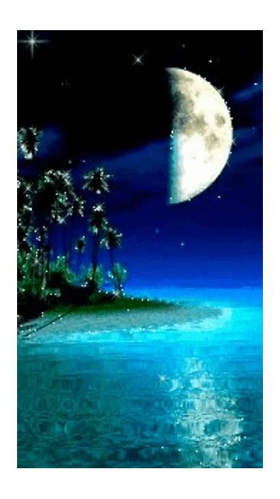 Moon Sunset Gifs Moonlight Celestial Magic Landscape