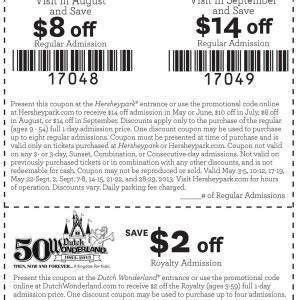 17854 Hershey Park Discount Code by A C Coupons 2018 The Range Discount Store