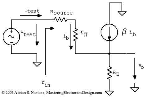 The Common Collector Amplifier Input Output Resistance
