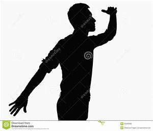 Silhouette Of Man Looking Ahead. Stock Photo - Image: 33402680