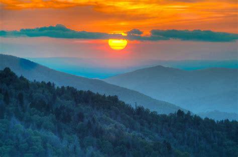 morton sunset  smoky mountain sunset spectacular