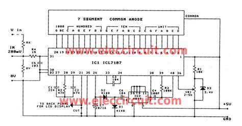 Simple Digital Voltmeter Circuit Using Icl