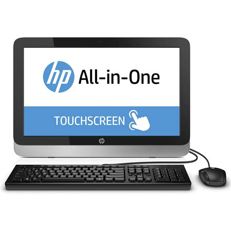 pc de bureau tactile hp all in one 22 2124nf pc de bureau hp sur ldlc