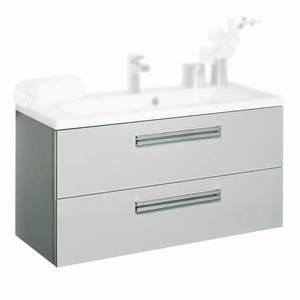 Meuble Repeint En Gris Perle : meuble sous vasque alterna seducta c1000622 90cm 2 tiroirs ~ Dailycaller-alerts.com Idées de Décoration