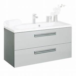 meuble sous vasque alterna seducta c1000622 90cm 2 tiroirs With meuble salle de bain gris perle