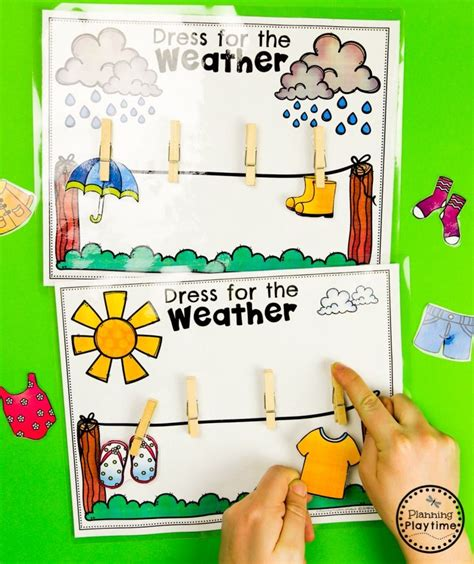 weather activities planning playtime weather