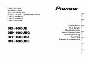 Notice Pioneer Deh-1600ub