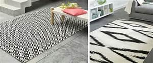 Tapis Jaune Et Noir : tapis graphique scandinave bricolage maison et d coration ~ Teatrodelosmanantiales.com Idées de Décoration