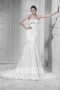 Robe De Mariée Moderne : robe de mari e moderne sans bretelle ruch e au derri re ~ Melissatoandfro.com Idées de Décoration
