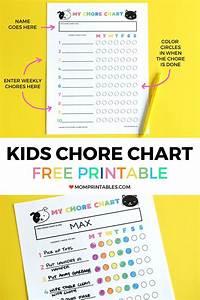 Kids Chore Chart Digital Download Chore Chart Kids