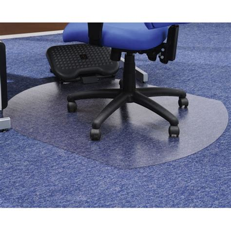 chair mat contoured for carpet protection 990x1250mm