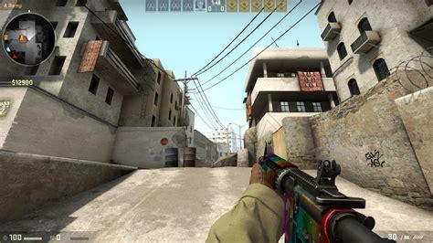 counter strike global offensive addon rainbow dash m4a1