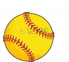 Yellow Softball Clip Art