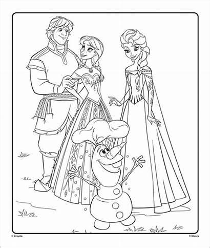 Elsa Frozen Coloring Anna Olaf Disney Kristoff