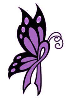 ideas  purple ribbon tattoos  pinterest cancer tattoos orange cancer ribbon