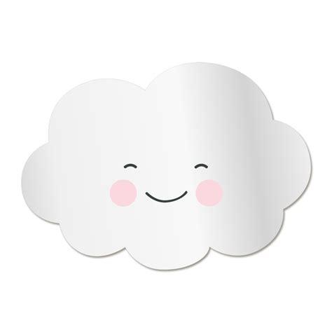 chambre bébé gris et blanc miroir enfant nuage sourire