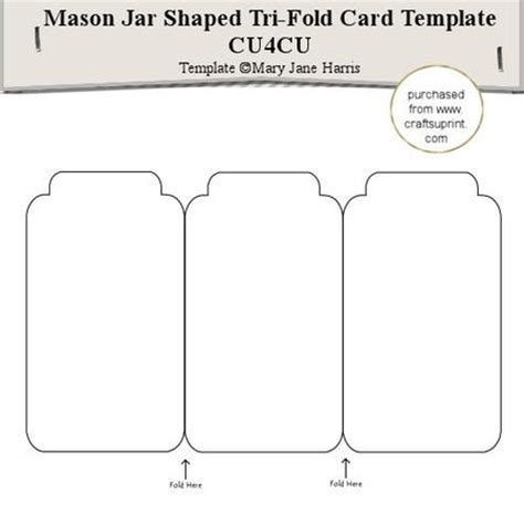 Maybe you would like to learn more about one of these? Mason Jar Tri-fold Card Template - Cu4cu - CUP291558_99 | Craftsuprint