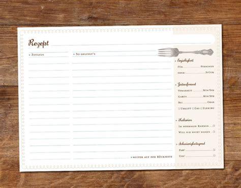 weiteres  rezeptkarten im umschlag ein designerstueck