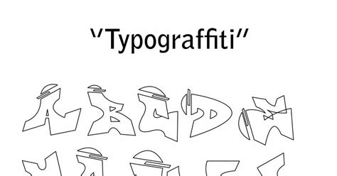 Graffiti Abjad A-z :  Tulisan Abjad Grafiti Dari A-z
