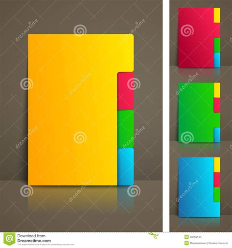 colorful tabs business brochure template stock illustration image of