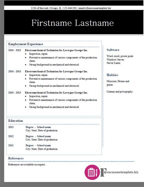 free resume template 2015 free resume templates pack 2 6 sles free resume templates