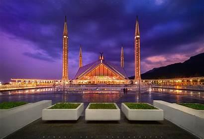 Faisal Mosque Islamabad Pakistan Shah Night Ramadan