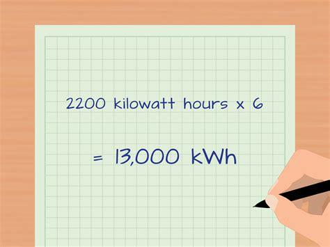 calculate kilowatt hours  calculator wikihow