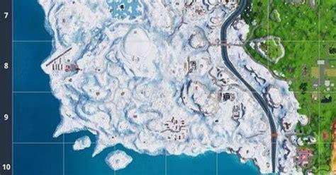 fortnite season   map revealed winter battle royale