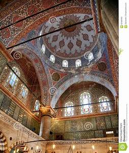 Interior Of Sultan Ahmed Mosque (Blue Mosque), Istanbul ...