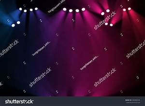 Concert on stage background flood lights stock