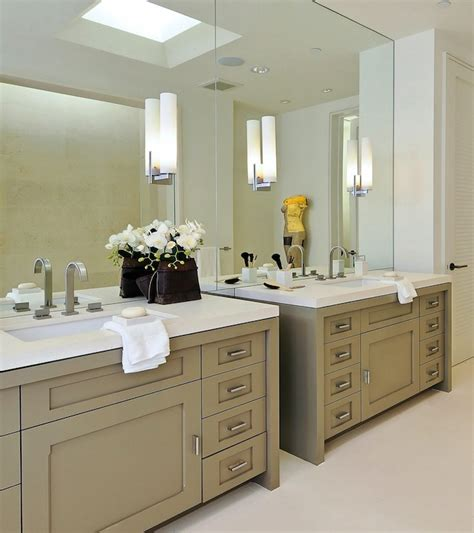 taupe cabinets contemporary bathroom pacific