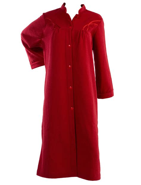 robe de chambre kimono femme dressing gown womens polar fleece button up