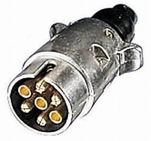 7 Pin Trailer Caravan Towing Wire Lighting Plug  Metal
