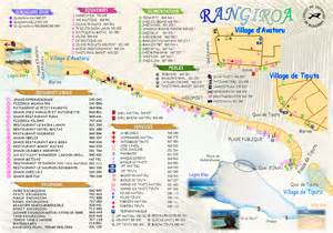 Rangiroa Tahiti Island French Polynesia Map