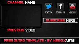Template 1 outro template by weeklyarts youtube for Outro template download